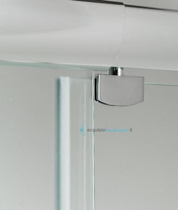 Box doccia angolare anta fissa porta battente 75x75 cm opaco