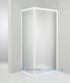 Box doccia angolare porta scorrevole 70x90 cm opaco bianco - Box doccia 70x90 leroy ...