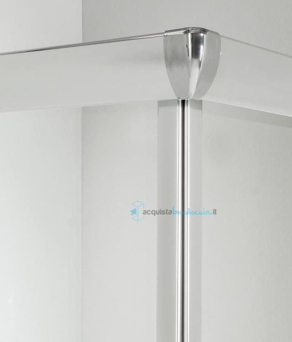 Box doccia angolare porta scorrevole 65x65 cm trasparente - Piatto doccia 70x85 ...