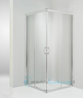 Box doccia angolare porta scorrevole 120x120 cm trasparente for Porta finestra scorrevole 120 cm