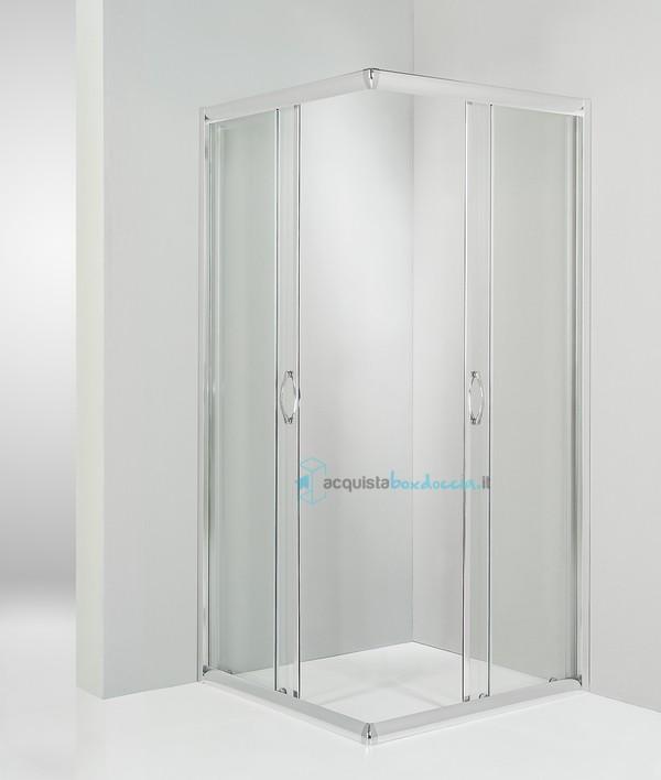 Vendita box doccia angolare porta scorrevole 60x60 cm trasparente  Acquistaboxdoccia.it