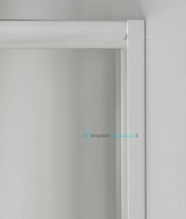 Box doccia 3 lati porta scorrevole 70x100x70 cm opaco