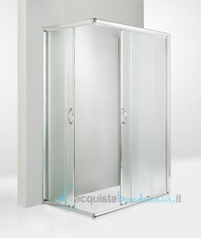 Box Doccia A Parete 3 Lati.Box Doccia 3 Lati Porta Scorrevole 70x100x70 Cm Opaco