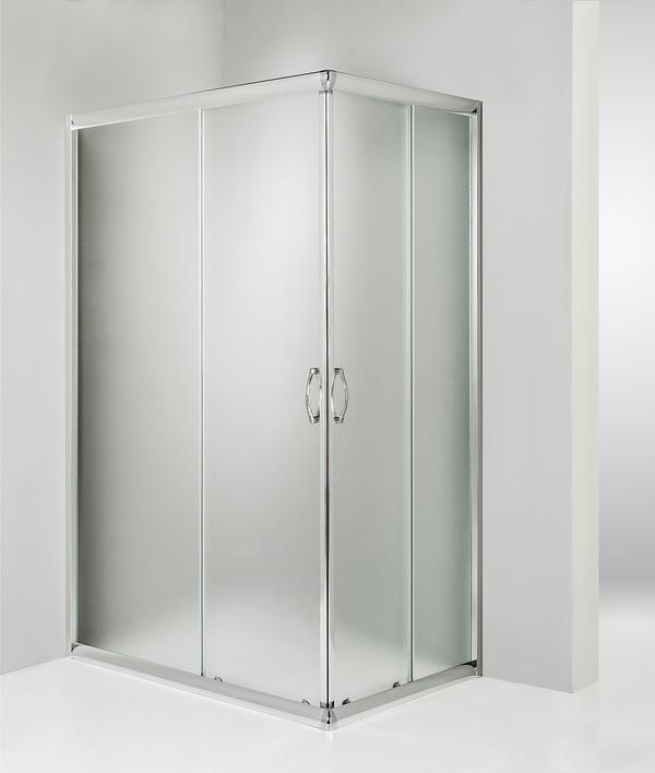 Box doccia angolare porta scorrevole 70x85 cm opaco serie n