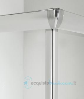 Box doccia angolare porta scorrevole 75x120 cm trasparente - Piatto doccia 75x120 ...