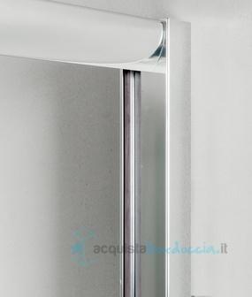 Box doccia angolare anta fissa porta battente 70x100 cm opaco - Montaggio porta battente ...