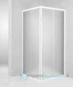 Vendita box doccia angolare porta scorrevole 90x90 cm for Box doccia angolare 90x90