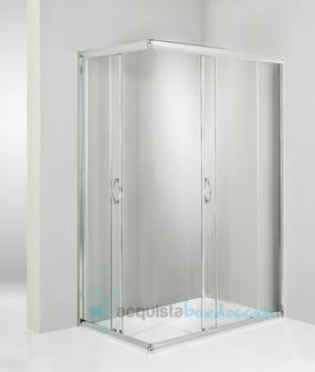 Box doccia angolare porta scorrevole 70x100 cm trasparente - Porte per docce ...