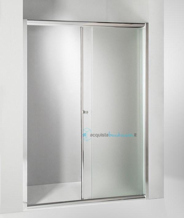 Porta doccia scorrevole 120 cm opaco - Porta doccia 120 ...