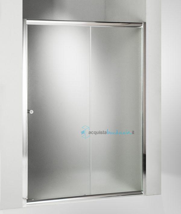 Vendita porta doccia scorrevole 120 cm opaco for Porta finestra scorrevole 120 cm