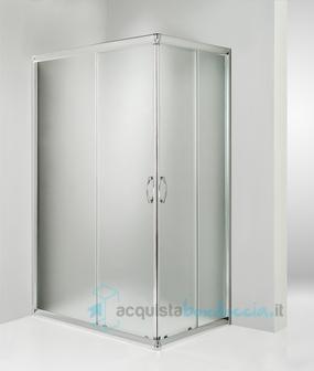 Box doccia angolare porta scorrevole 70x90 cm opaco - Box doccia senza piatto ...