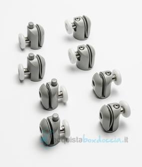 Box doccia semicircolare 80x80 cm opaco bianco - Piatto doccia 70x85 ...