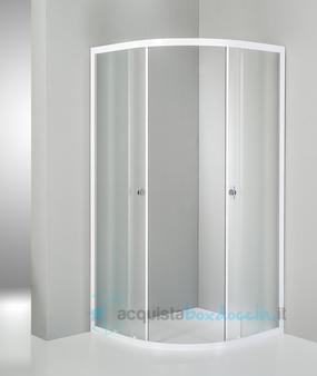 Vendita box doccia semicircolare 80x80 cm opaco bianco for Pannelli doccia bricoman