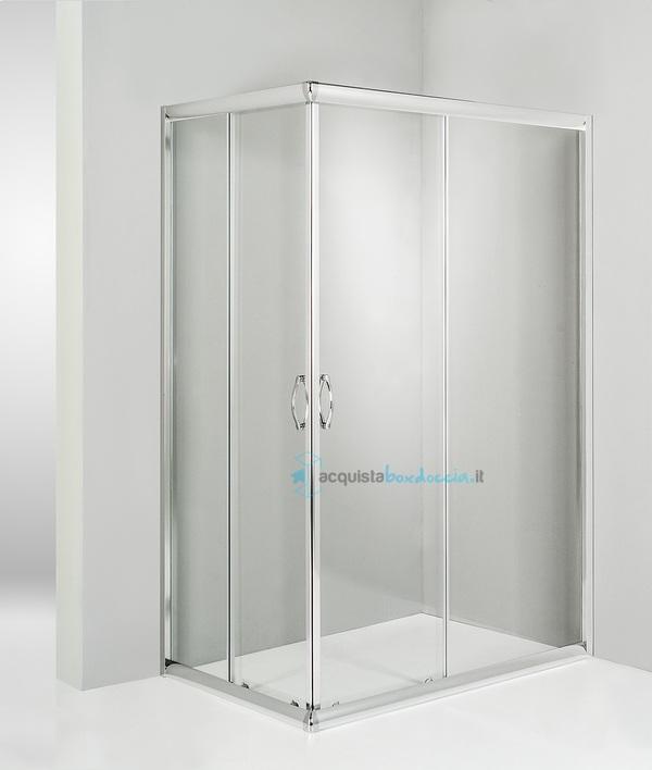 Box doccia angolare scorrevole 70x85 cm trasparente - Montaggio porta scorrevole ...