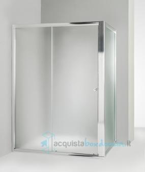 Cabina Doccia 70x140.Box Doccia Angolare Anta Fissa Porta Scorrevole 70x140 Cm Opaco