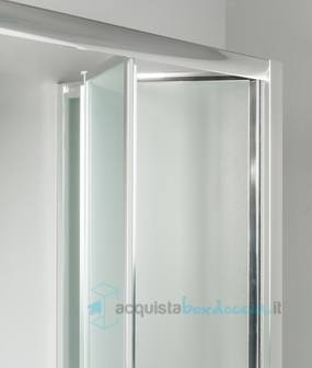 Vendita porta doccia a soffietto 80 cm opaco - Porta doccia pieghevole ...