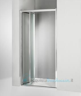 Porta doccia soffietto 80 cm opaco - Porta doccia pieghevole ...