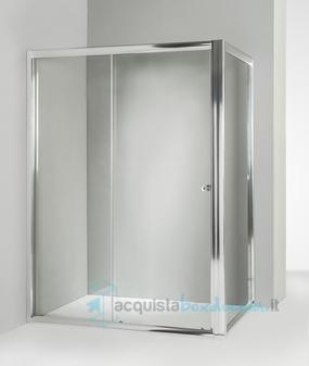 Box doccia angolare anta fissa porta scorrevole 80x140 cm - Porta accappatoio da doccia ...