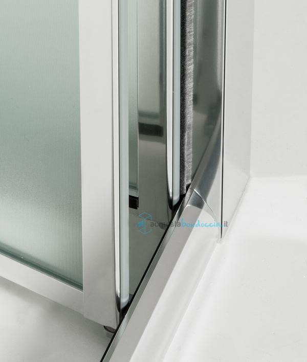 Porta doccia soffietto 70 cm opaco - Porta doccia soffietto ...