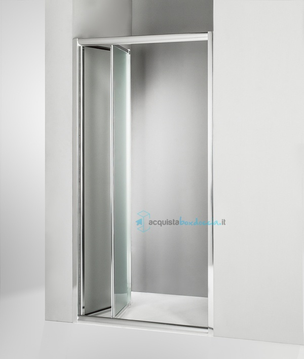 Vendita porta doccia a soffietto 90 cm opaco - Porta a soffietto costo ...