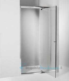 Porta doccia battente 90 cm opaco - Montaggio porta battente ...