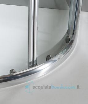 HYDRA Box Doccia semicircolare 80x80 cm Opaco Serie n